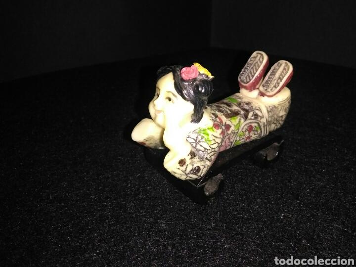 Artesanía: Figura china siglo XX niña reposando , - Foto 10 - 219469175