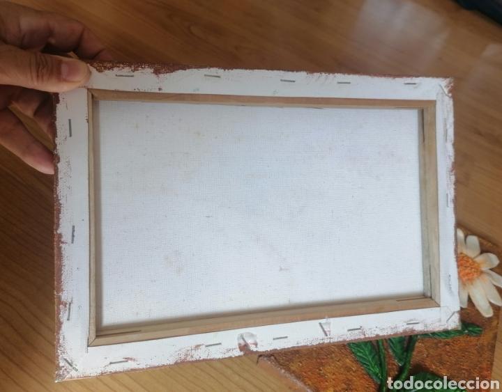 Artesanía: 3 CUADROS DE FLORES ARTESANAL MIGA DE PAN. ARTESANÍA. 30 x 20 CM. - Foto 5 - 222128950