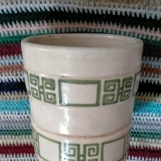 Artesanía: JARRÓN DE CERÁMICA ARTESANAL 13 X 12. Lote 232480600
