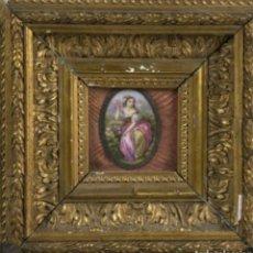 Artesanía: PLACA EN PORCELANA ESMALTADA, S. XIX.. Lote 237173460