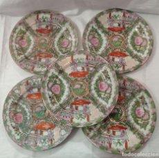 Artesanía: 5 PLATOS PORCELANA CHINA MACAO. Lote 245519195
