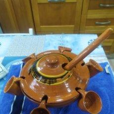 Artesanía: POTE DE BARRO COCIDO PARA QUEIMADA GALLEGA. Lote 246256150