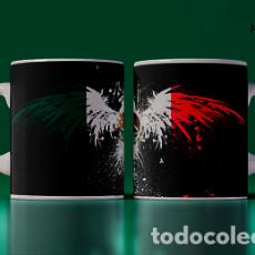 Artesanía: BANDERA DE MEXICO MODELO AGUILA MR TAZA MUG CUP. Lote 246391305