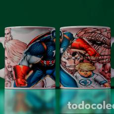 Artesanía: CAPITAN AMERICA Y LOS 4 FANTASTICOS MR TAZA MUG CUP TAZAS. Lote 246394165