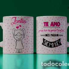 Artesanía: TE AMO NO ES PARA TANTO ELLA MR TAZA MUG CUP. Lote 246397335