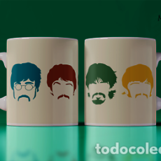 Artesanía: THE BEATLES CABEZAS DE COLORES MR TAZA MUG CUP. Lote 246401400
