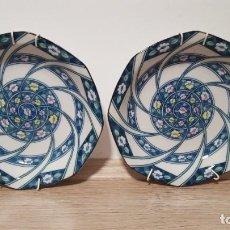Artesanía: PLATOS DE PORCELANA JAPONESA CON GANCHOS PARA COLGAR.. Lote 246421455