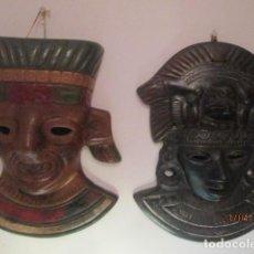Artigianato: MASCARAS MEXICANAS, SOL Y LUNA, EN CERÁMICA. Lote 247967275