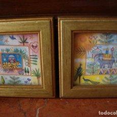 Artesanía: PAR DE CUADROS MINIATURA. Lote 257699655