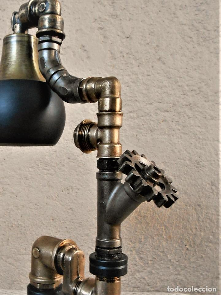 Artesanía: Lámpara de escritorio - Steampunk, Altura 34 cm, Ancho 21 cm - Peso 1,15 kg Incluye Bombilla led - Foto 3 - 257704400