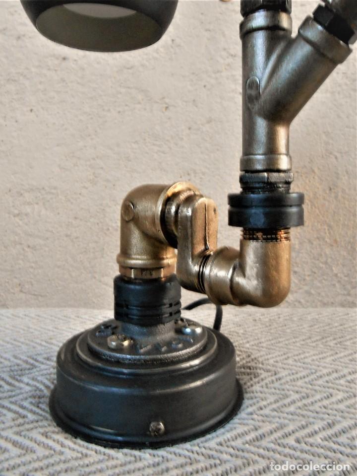Artesanía: Lámpara de escritorio - Steampunk, Altura 34 cm, Ancho 21 cm - Peso 1,15 kg Incluye Bombilla led - Foto 4 - 257704400