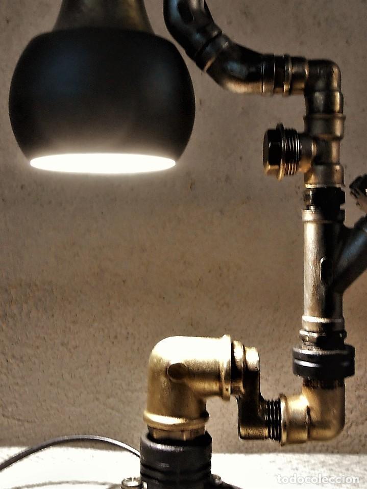 Artesanía: Lámpara de escritorio - Steampunk, Altura 34 cm, Ancho 21 cm - Peso 1,15 kg Incluye Bombilla led - Foto 7 - 257704400