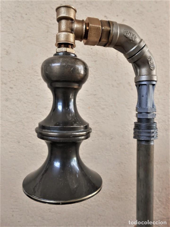 Artesanía: Lámpara de mesa - Steampunk, Altura 43 cm, Ancho 18 cm - Peso 1,07 kg Incluye Bombilla led - Foto 2 - 257704950