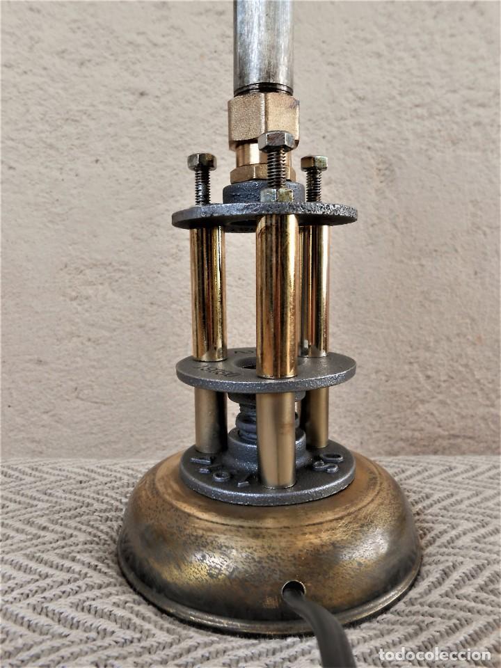Artesanía: Lámpara de mesa - Steampunk, Altura 43 cm, Ancho 18 cm - Peso 1,07 kg Incluye Bombilla led - Foto 3 - 257704950
