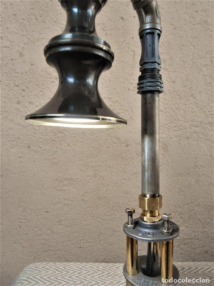 Artesanía: Lámpara de mesa - Steampunk, Altura 43 cm, Ancho 18 cm - Peso 1,07 kg Incluye Bombilla led - Foto 4 - 257704950