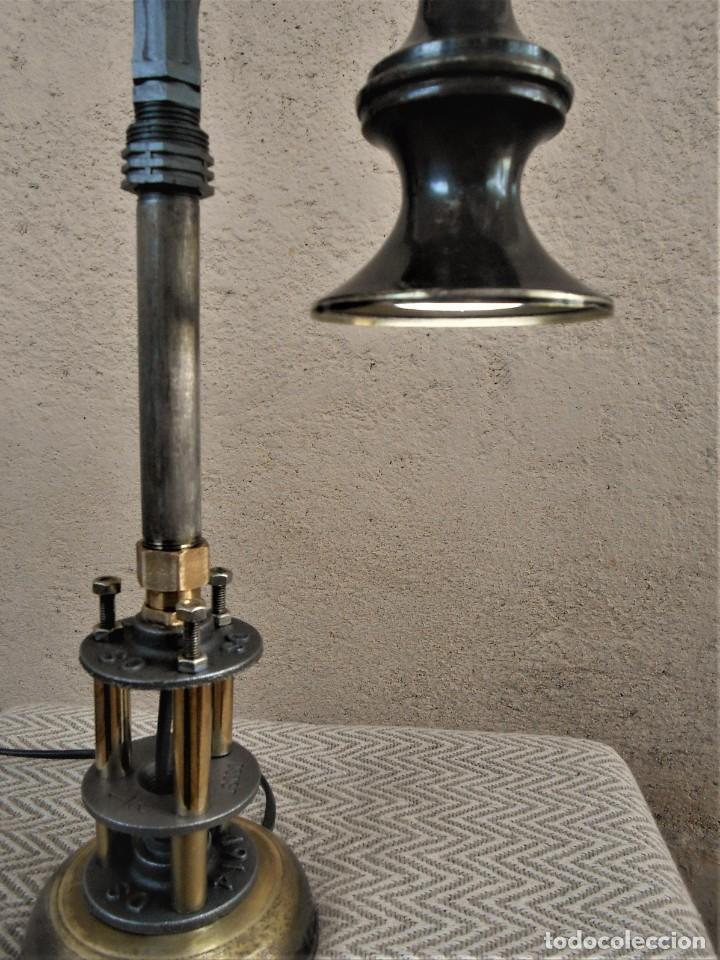 Artesanía: Lámpara de mesa - Steampunk, Altura 43 cm, Ancho 18 cm - Peso 1,07 kg Incluye Bombilla led - Foto 6 - 257704950