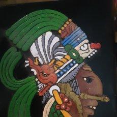 Artigianato: CUADRO MEXICANO ECHO A MANO EN MEXICO CON UNA PIEDRA TIPICA DE ALLI. Lote 259908090