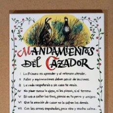 Artesanía: MANDAMIENTOS DEL CAZADOR. Lote 277721748