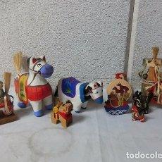 Artesanía: CABALLO DE ARCILLA , CAMPANAS DE ARCILLA, PAPEL MACHÉ, CABALLOS CHAGUCHAGU, CABALLOS ROJOS. Lote 278577158