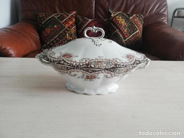 Artesanía: Sopera antigua porcelana china opaca Sandeman Macdougall (Sevilla) - Foto 2 - 287727878