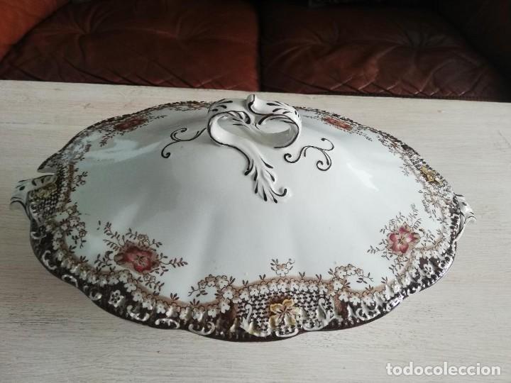 Artesanía: Sopera antigua porcelana china opaca Sandeman Macdougall (Sevilla) - Foto 5 - 287727878