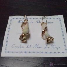 Artesanía: PENDIENTES DE ARTESANIA CON CONCHAS DE LA TOJA. Lote 45067521
