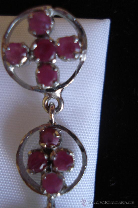 Artesanía: Largos pendientes de rubí en bruto - Foto 2 - 51505642