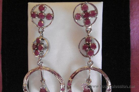 Artesanía: Largos pendientes de rubí en bruto - Foto 3 - 51505642