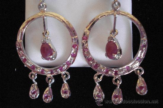 Artesanía: Largos pendientes de rubí en bruto - Foto 4 - 51505642