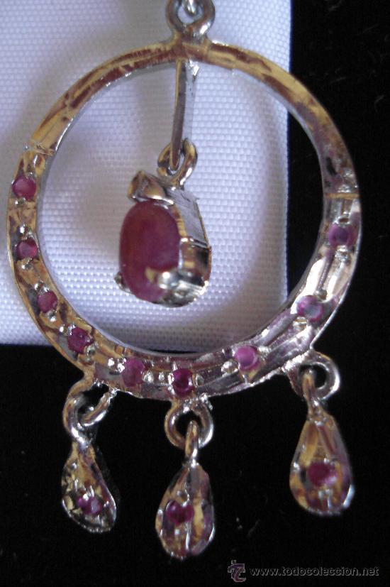 Artesanía: Largos pendientes de rubí en bruto - Foto 5 - 51505642