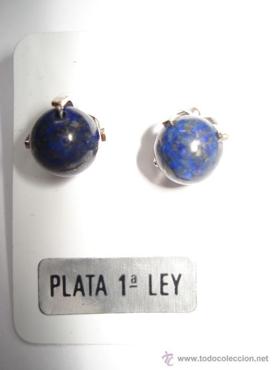 PENDIENTES DE LAPISLAZULI Y PLATA DE LEY 925 (Artesanía - Pendientes)
