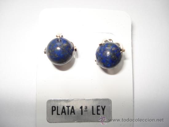 Artesanía: PENDIENTES DE LAPISLAZULI Y PLATA DE LEY 925 - Foto 2 - 51637770