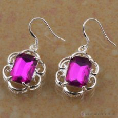 Handicraft - PENDIENTES FASHION EN PLATA CON GEMAS - LEER DENTRO LA DESCRIPCION - Nº5 - 53986479