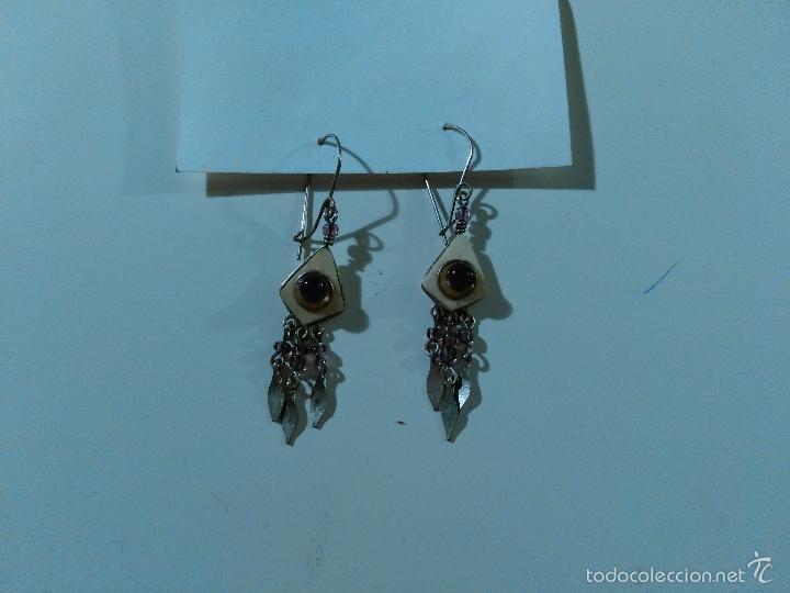 Artesanía: Pendientes. Piedras y metal. - Foto 2 - 57501377