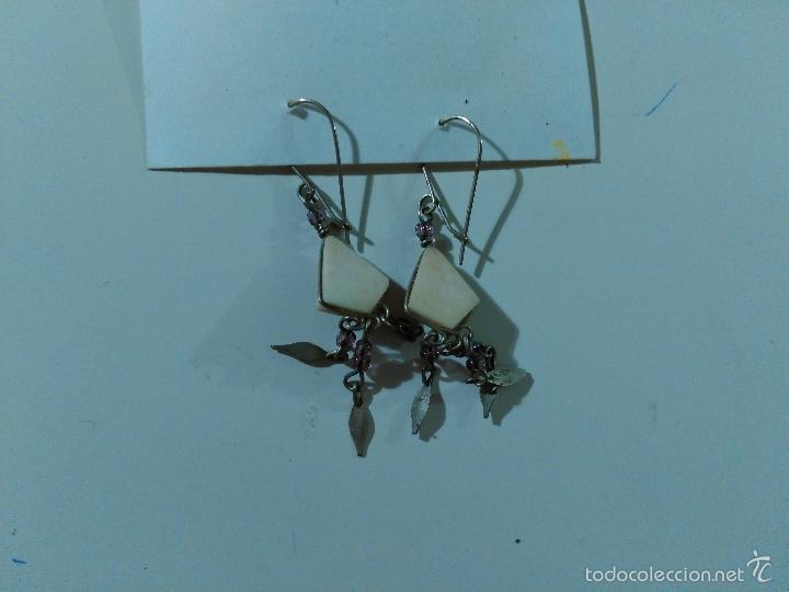 Artesanía: Pendientes. Piedras y metal. - Foto 3 - 57501377