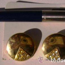 Artesanía: PENDIENTES DE BOTÓN, ALTA CALIDAD, CIERRE CLIP. Lote 80661330