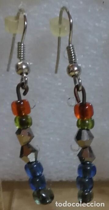 Artesanía: Arc 46 Pendientes fantasía hippy con abalorios y plata tibetana - 4cm - Foto 2 - 110153559