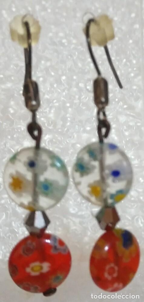 Artesanía: Arc 53 Pendientes fantasía con abalorios y plata tibetana - 4cm largo - Foto 2 - 110310019
