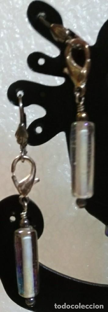 Artesanía: Arc 67 Pendientes fantasía hippy cierre gancho cerrado - gris plateado - 6cm - Foto 4 - 110727695