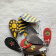 Artesanía: 8 PAREJAS DE PENDIENTES DISTINTOS PINTADOS A MANO SOBRE CHAPA. Lote 120004731