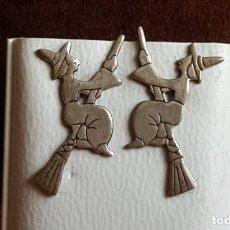 Artesanía: PENDIENTES BRUJA EN PLATA DE LEY. ARTESANÍA DE COMPOSTELA.. Lote 129084567