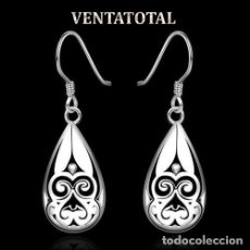 Artesanía: PENDIENTES VINTAGE SON DE ORO BLANCO DE 18 KILATES LAMINADO PESA LOS DOS 2,69 GRA N41. Lote 173353844
