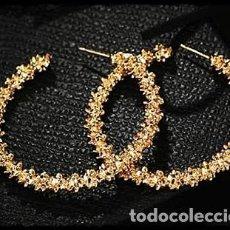 Artesanía: PRECIOSOS PENDIENTES AROS GRANDES. DIAMETRO 40MM. NUEVOS. Lote 197576612