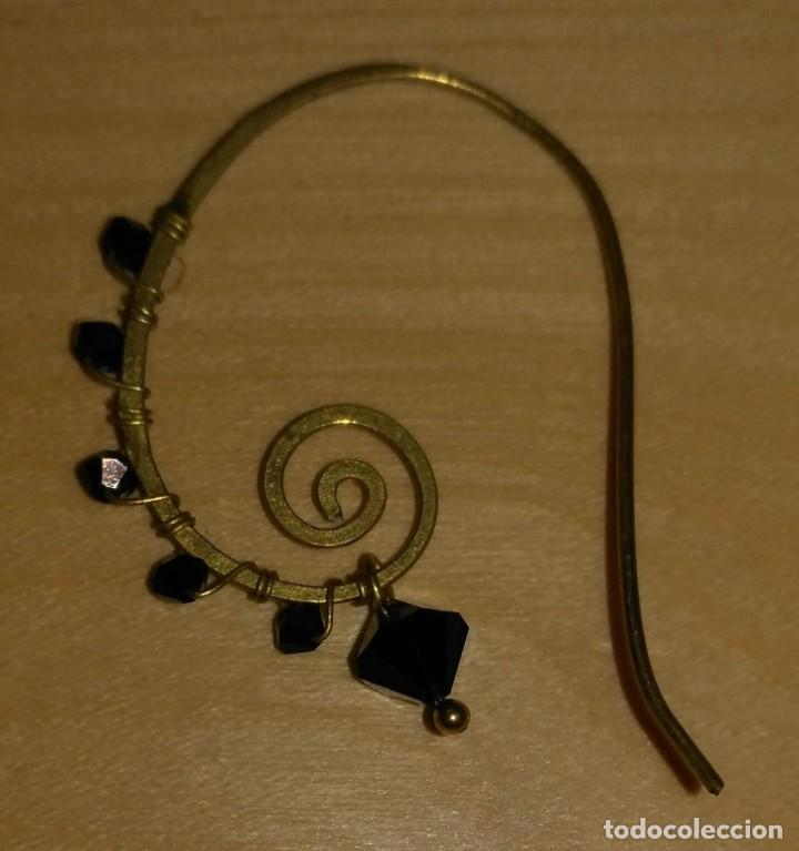 Artesanía: Pendientes diseño con piedras negras poligonales - Largo 5cm - Origen regalo - Sin usar - Foto 3 - 197709902
