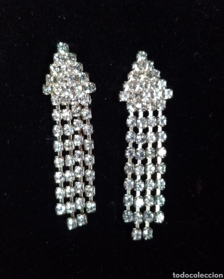 Artesanía: Preciosos pendientes con colgantes con pequeñas piezas transparentes. - Foto 2 - 215022366