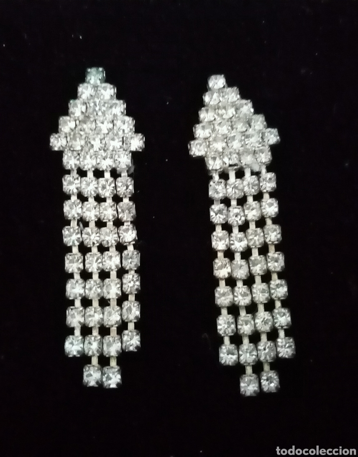 Artesanía: Preciosos pendientes con colgantes con pequeñas piezas transparentes. - Foto 4 - 215022366