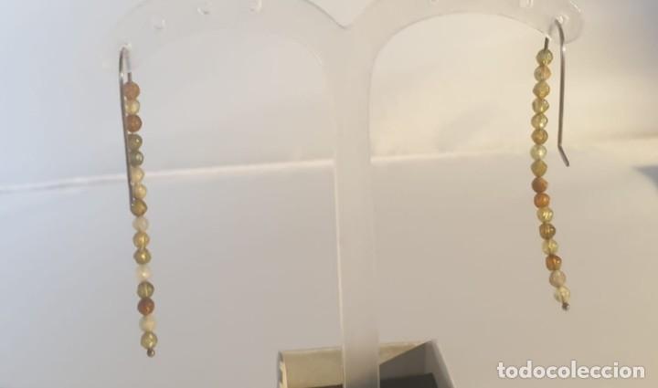 Artesanía: Pendientes granate grosularia en plata de ley - Foto 3 - 240686605