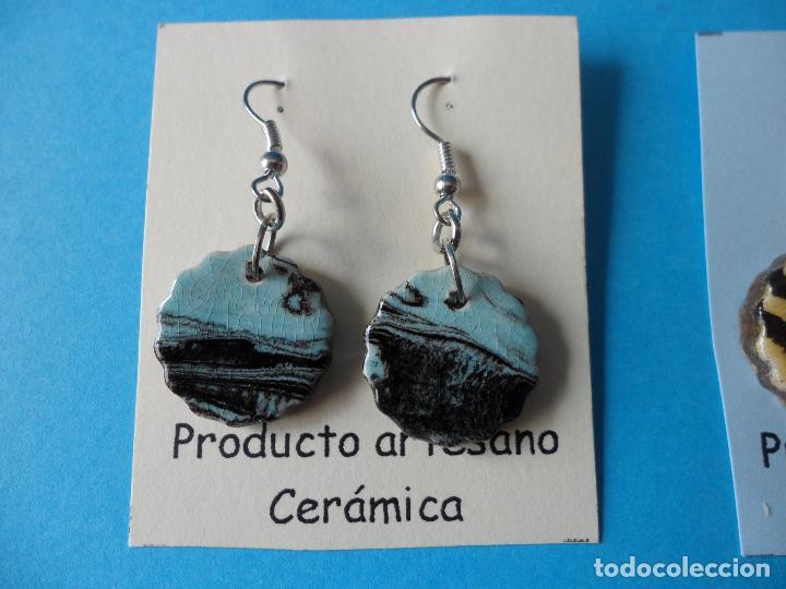 Artesanía: Bonitos y coquetos pendientes de Cerámica realizados a mano. Neriage o Marmolado - Foto 2 - 255522775