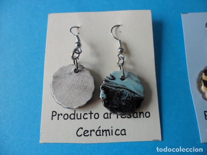 Artesanía: Bonitos y coquetos pendientes de Cerámica realizados a mano. Neriage o Marmolado - Foto 3 - 255522775