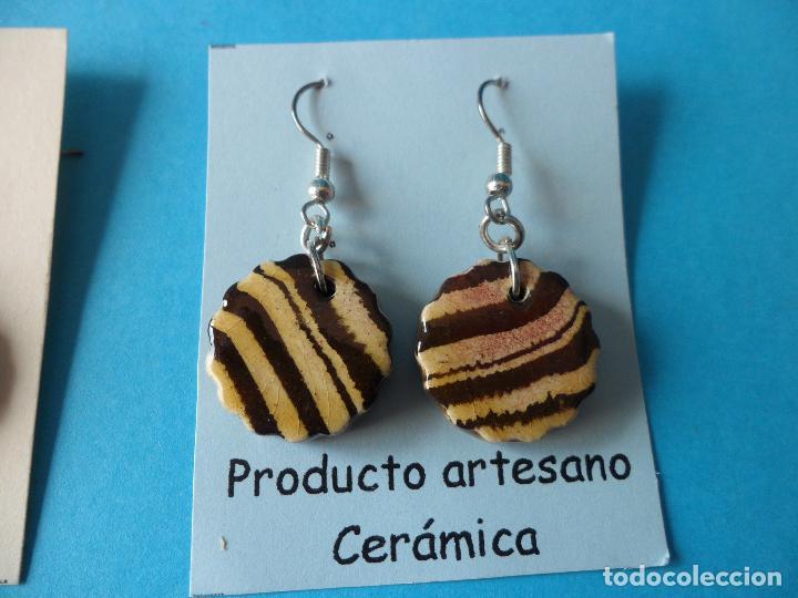 Artesanía: Bonitos y coquetos pendientes de Cerámica realizados a mano. Neriage o Marmolado - Foto 4 - 255522775